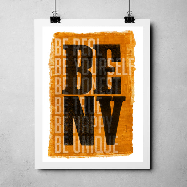 "Nevada Day - ""Be Nevada"" Art Print"