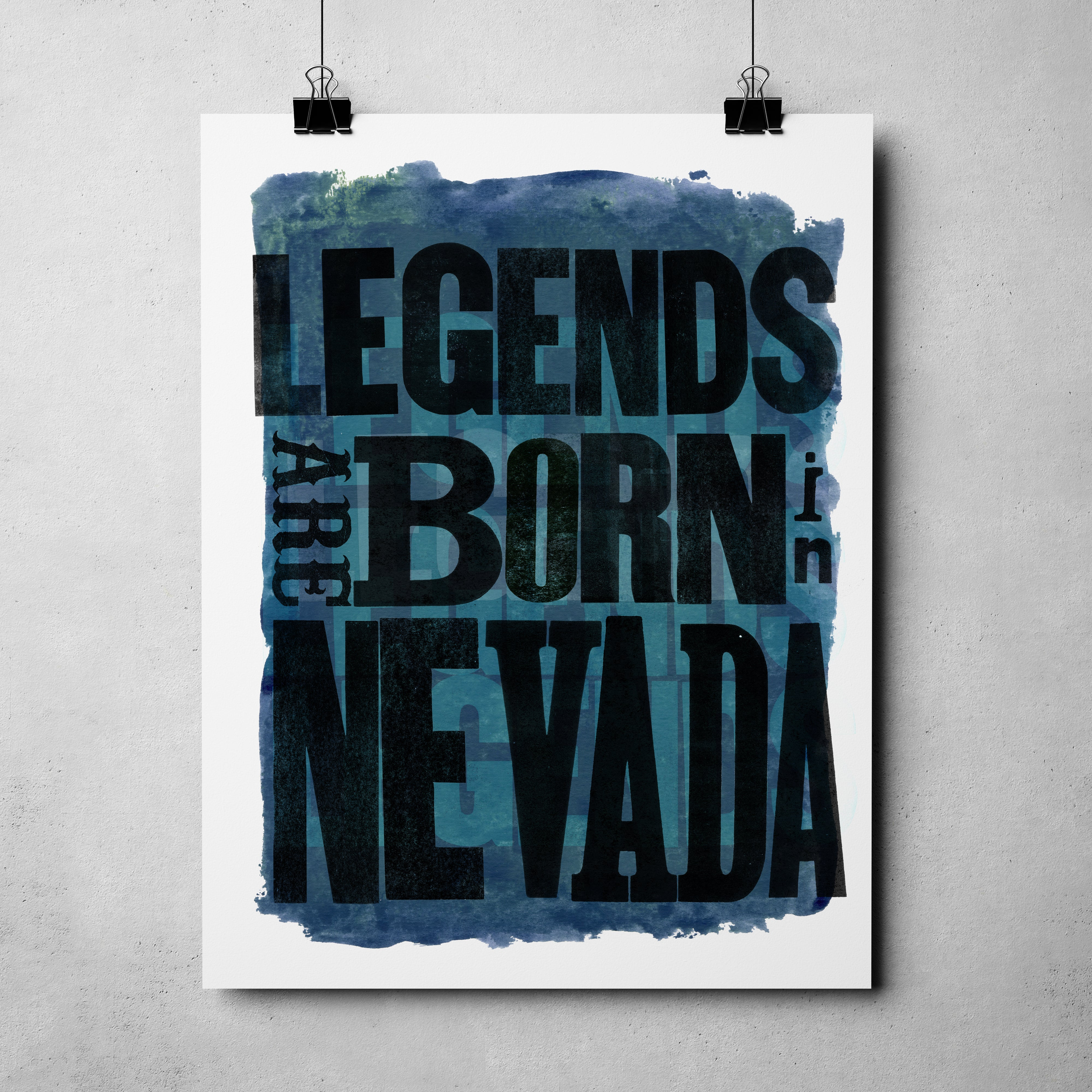 "Nevada Day - ""Legends Born"" Art Print"