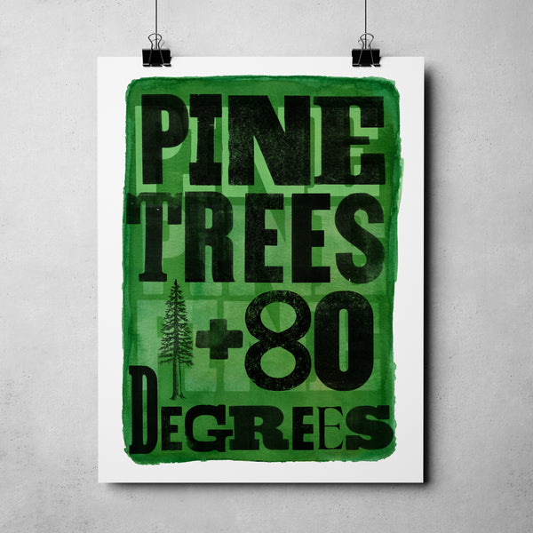 "Nevada Day - ""Pine Trees + 80 Degrees"" Art Print"