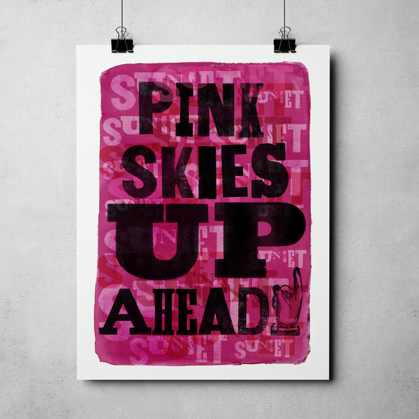 "Nevada Day - ""Pink Skies Sunset Nevada"" Art Print"