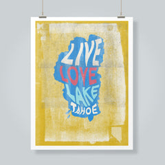"""Live Love Lake"" Art Print"