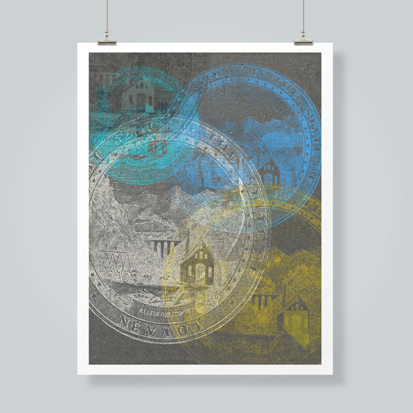 """Nevada State Seal"" Art Print"