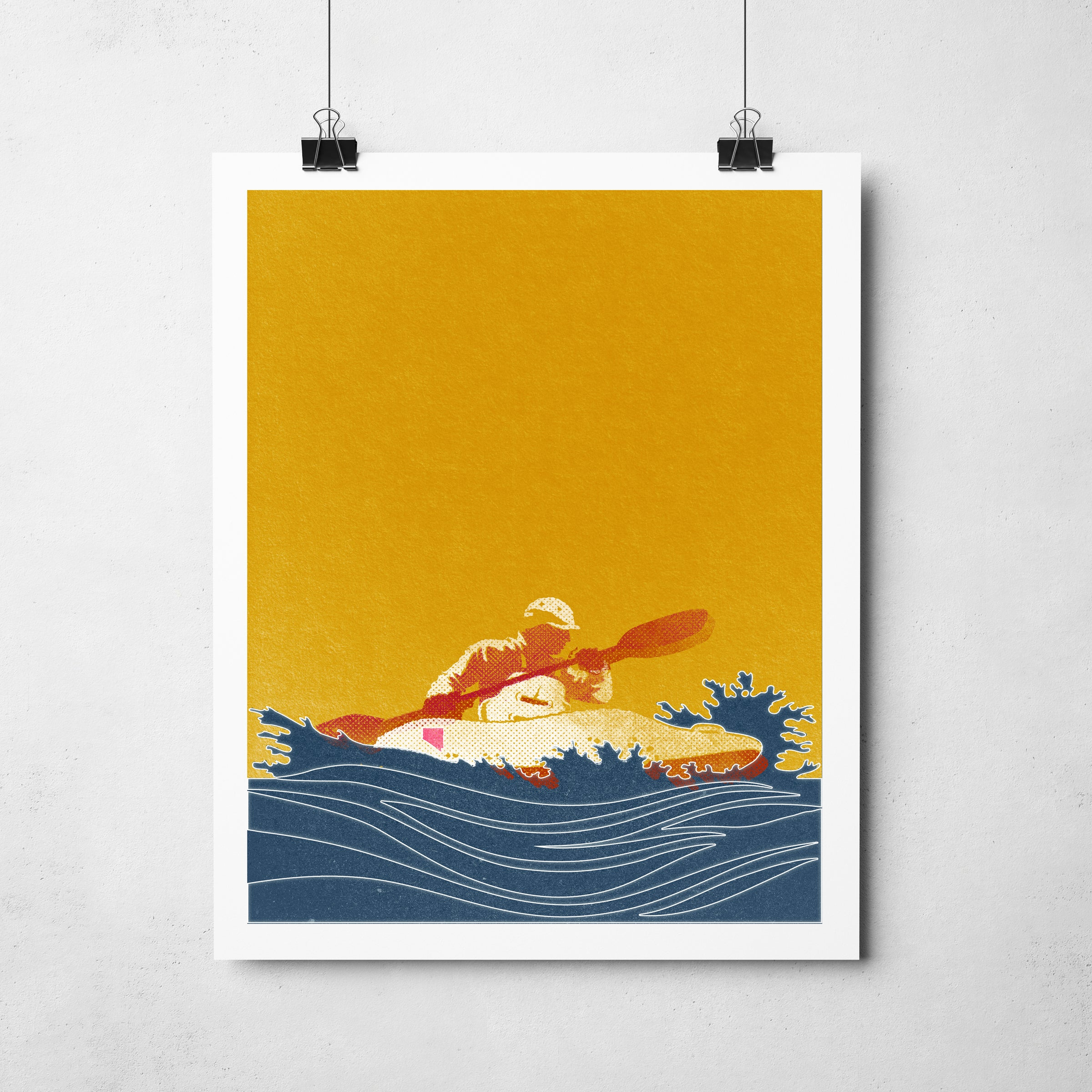 """Nevada Kayak"" Art Print"