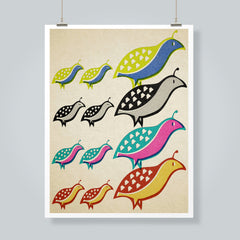 """Quail Colors"" Art Print"