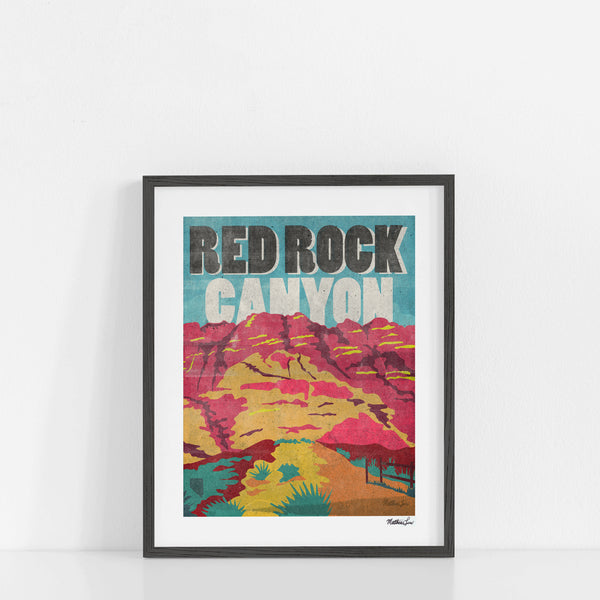 """Red Rock Canyon"" Art Print"