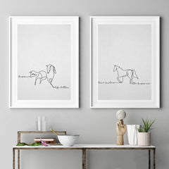 """Horses Make Life Better"" Art Print"