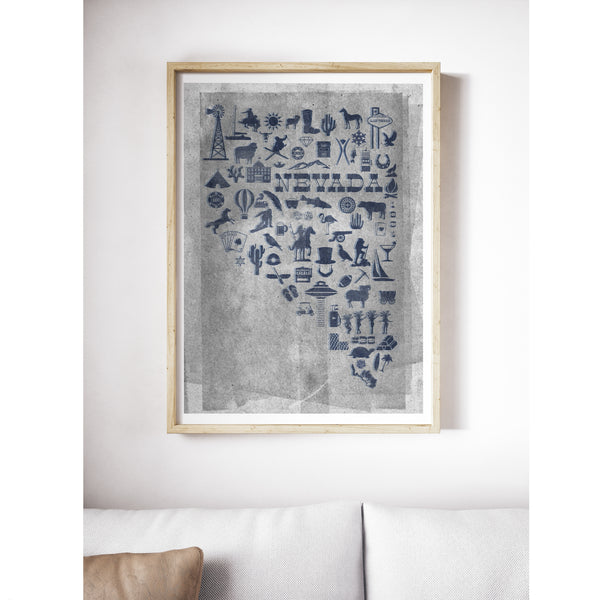 """Silver and Blue"" Art Print"
