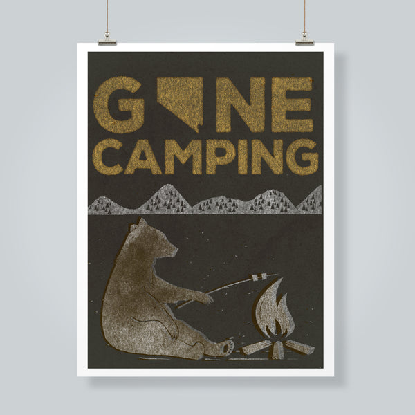 """Gone Camping"" Art Print"