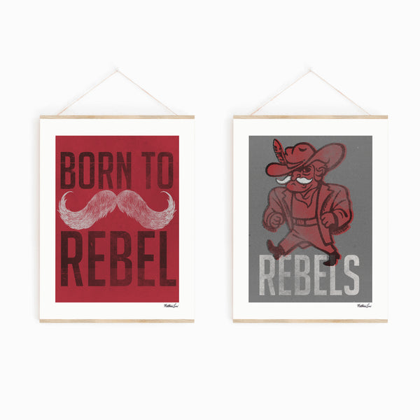 Rebels Gray Art Print