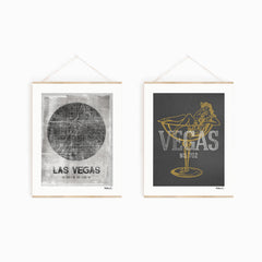 """Las Vegas Map"" Art Print"
