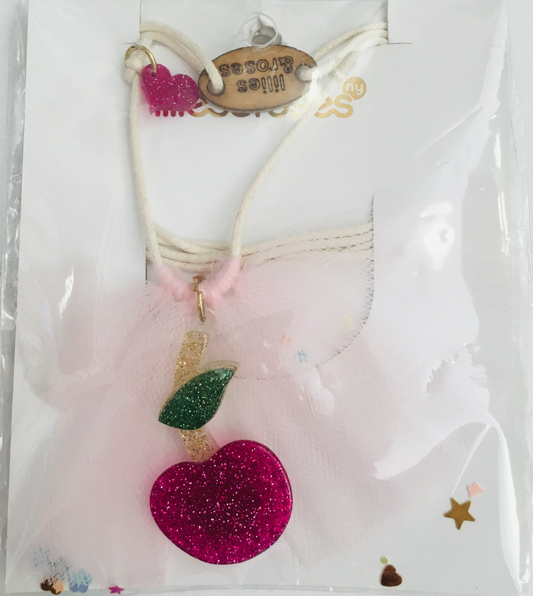 Lilies & Roses Pink Cherry Necklace