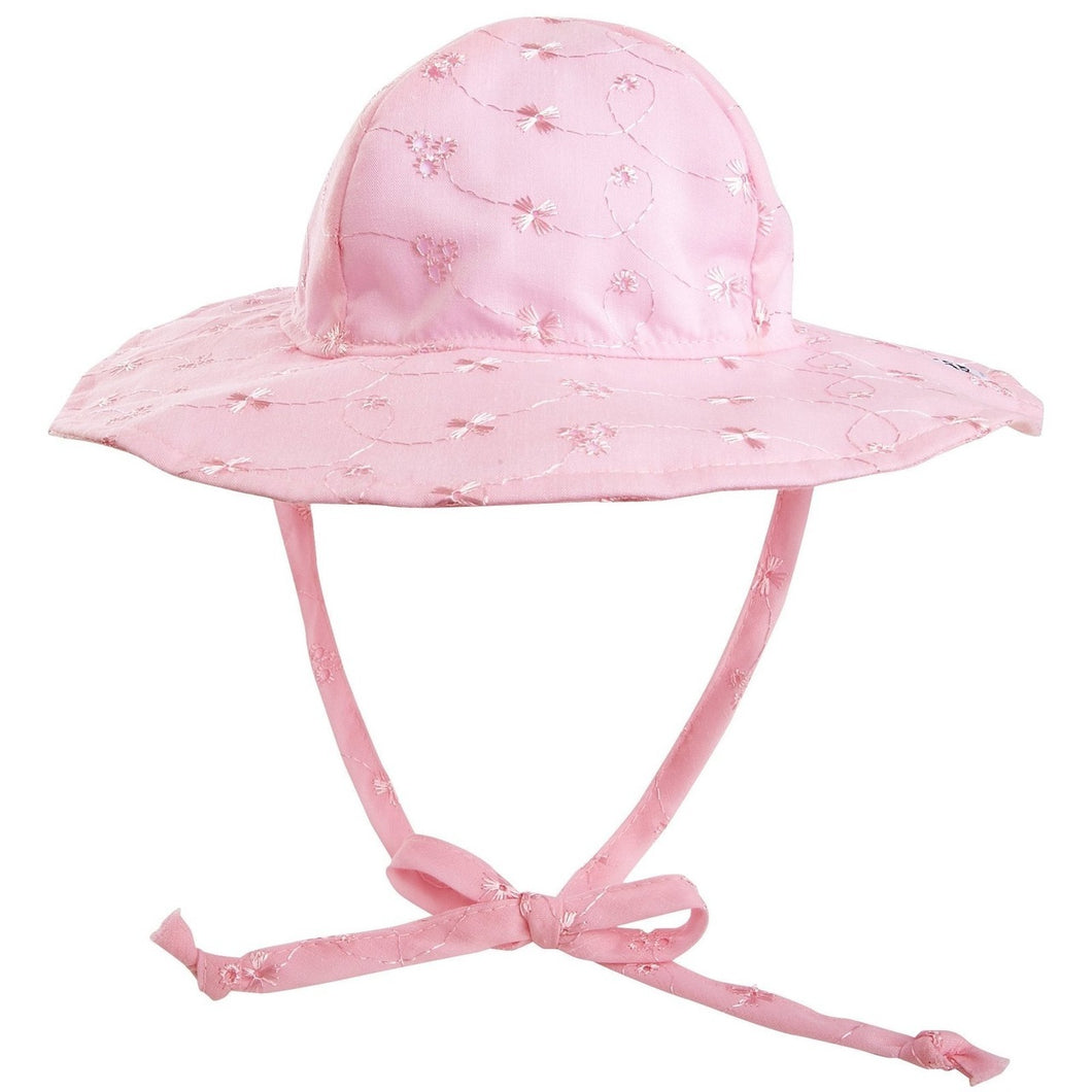 Flap Happy Floppy Hat Pink Eyelet