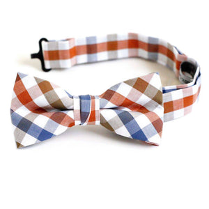 Urban Sunday Bow Tie Red White Blue Gingham