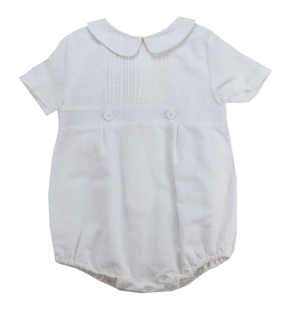 Luli and Me White Linen Romper