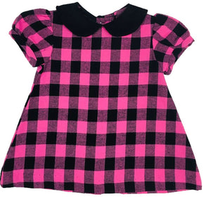 CCP Black and Pink Buffalo Check Flannel Dress