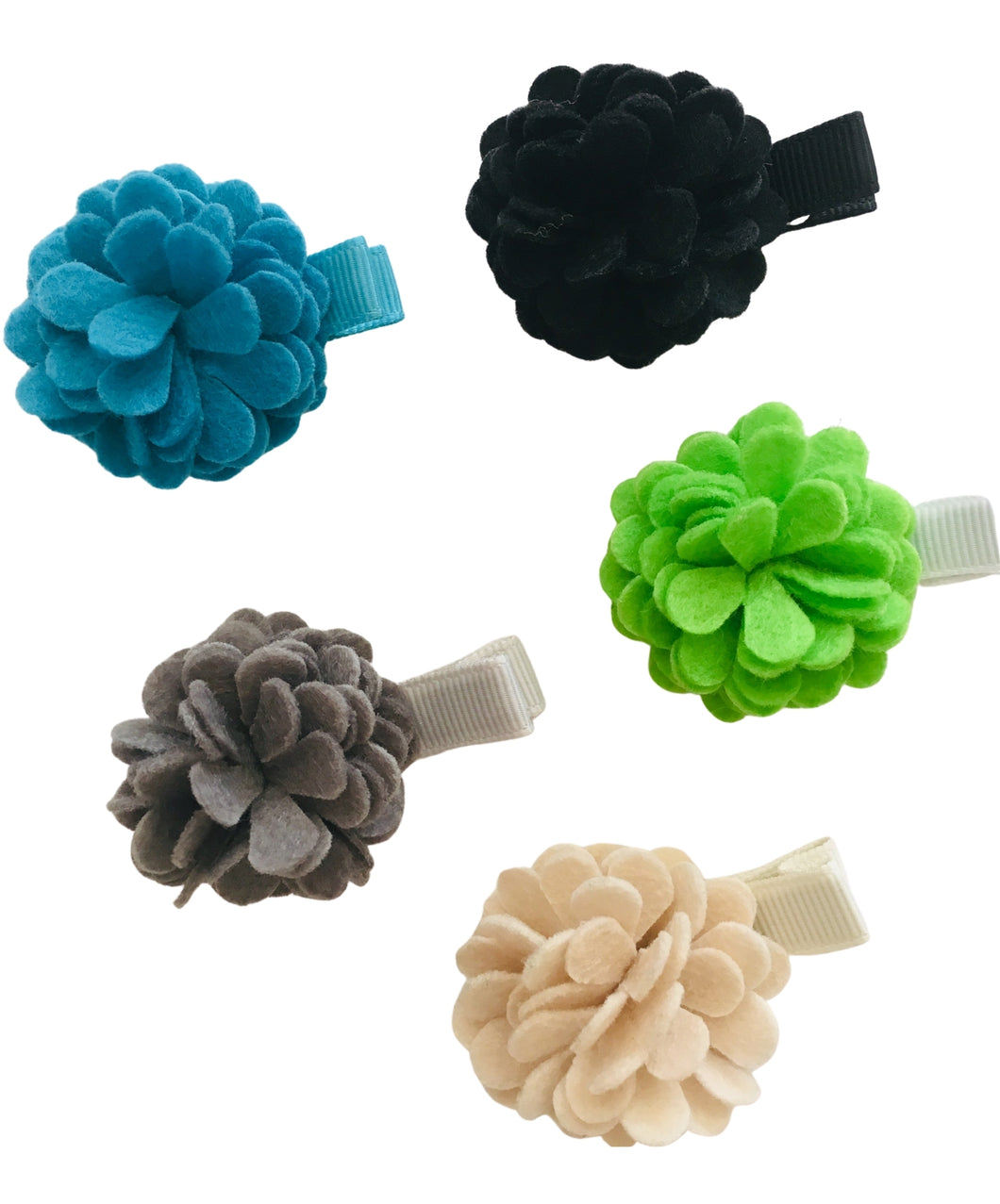 Wee Ones Felt Flower Clips