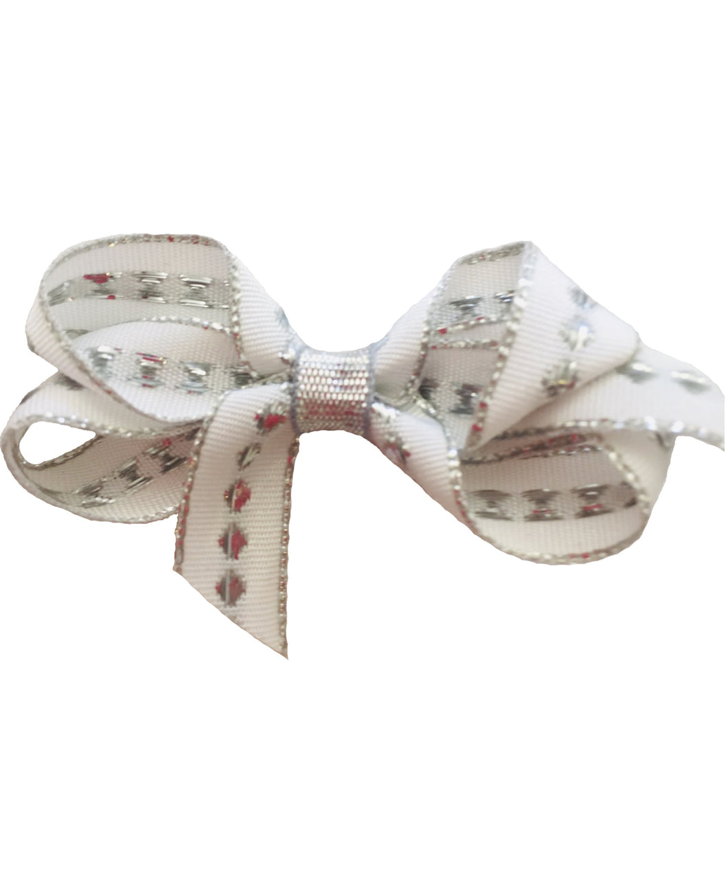 Bows Arts White and Silver Bow