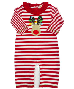 Luigi Red Stripe Ruffle Neck Rudolph Coverall
