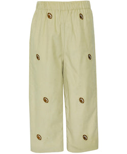 Anavini Football Embroidered Corduroy Pants
