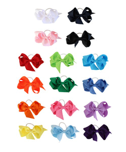 Bows Arts Grosgrain 4 Inch Bow on Pony Tie