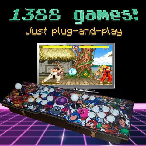 New! 1388-game 2-player Arcade Retro Console