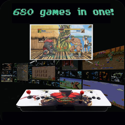 680-game 2-player Arcade Retro Console - Choose your own custom artwork