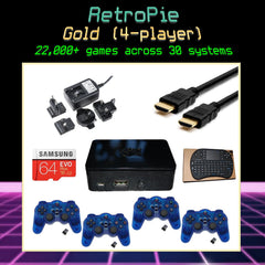 RetroPie Ultimate Emulation Console - Gold Bundle