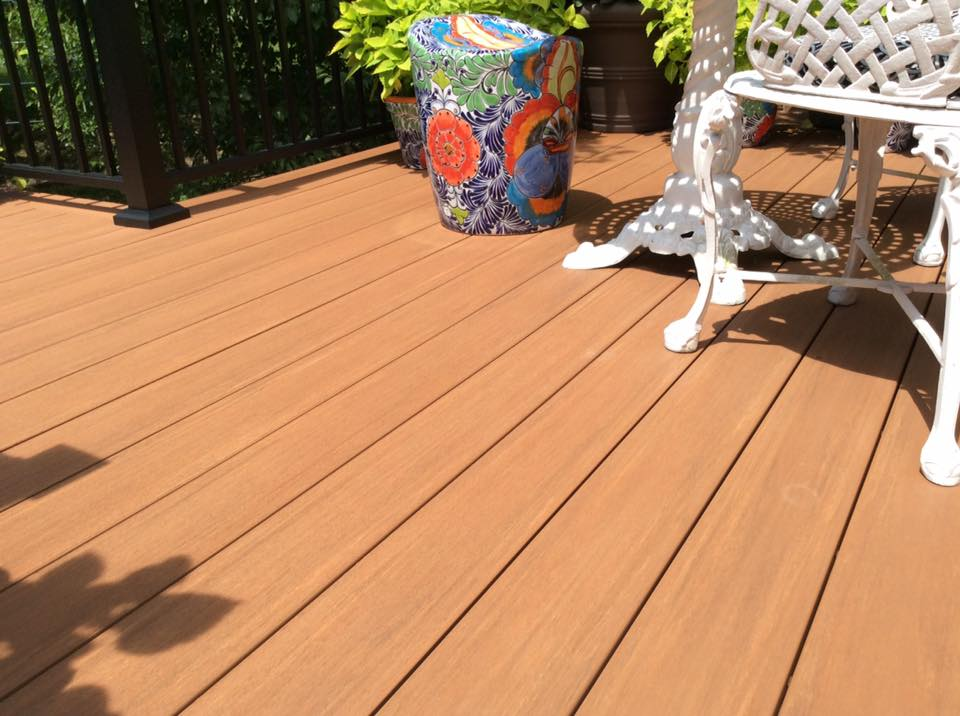 PVC Azek Decking Vintage Cypress is a great choice for realistc cedar looking decking without maintanance