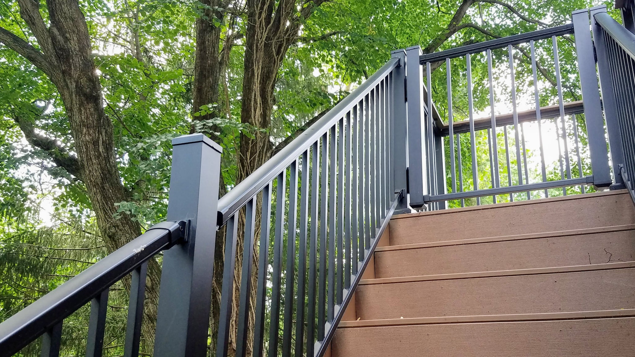 DekPros Prestige Railing Kits in Stair Application Level Application and Gate Shown, Gate Sold Seperately