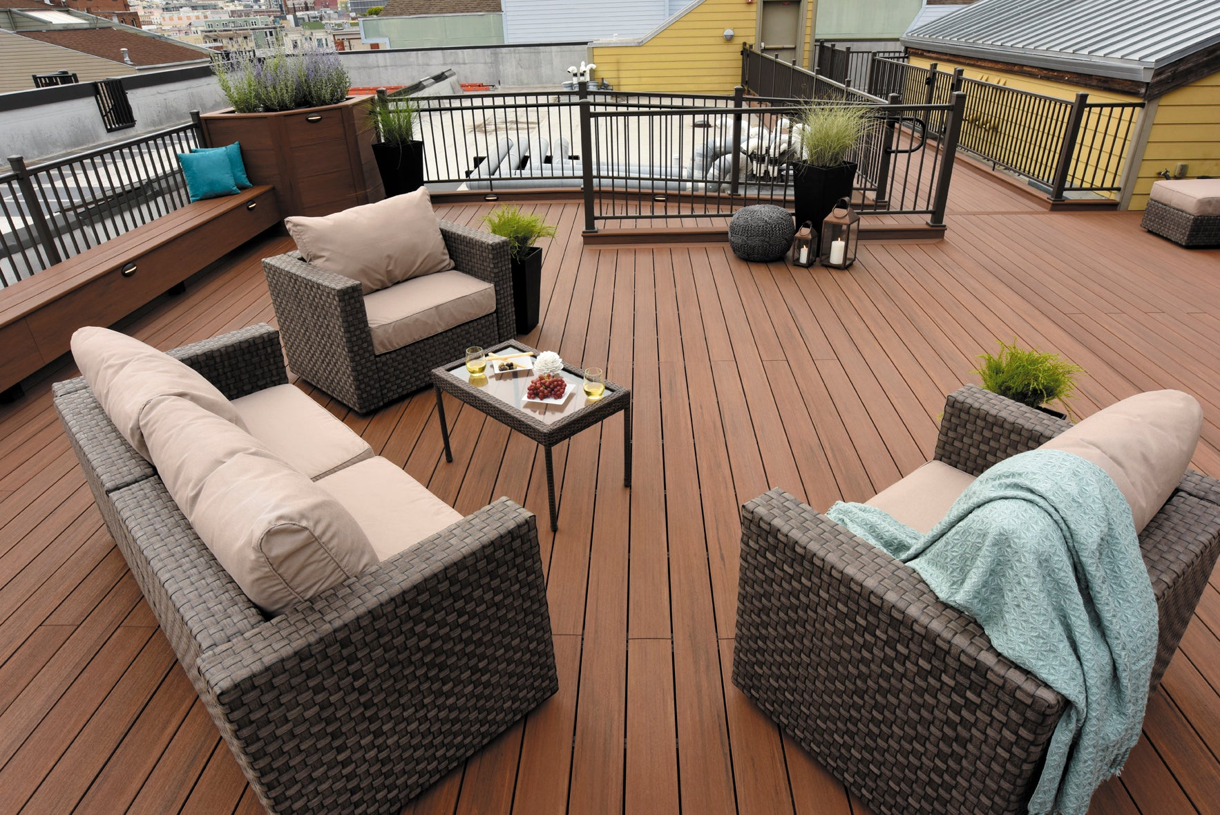 Azek Vintage Collection PVC Decking Mahogany, Cypress, Dark Hickory