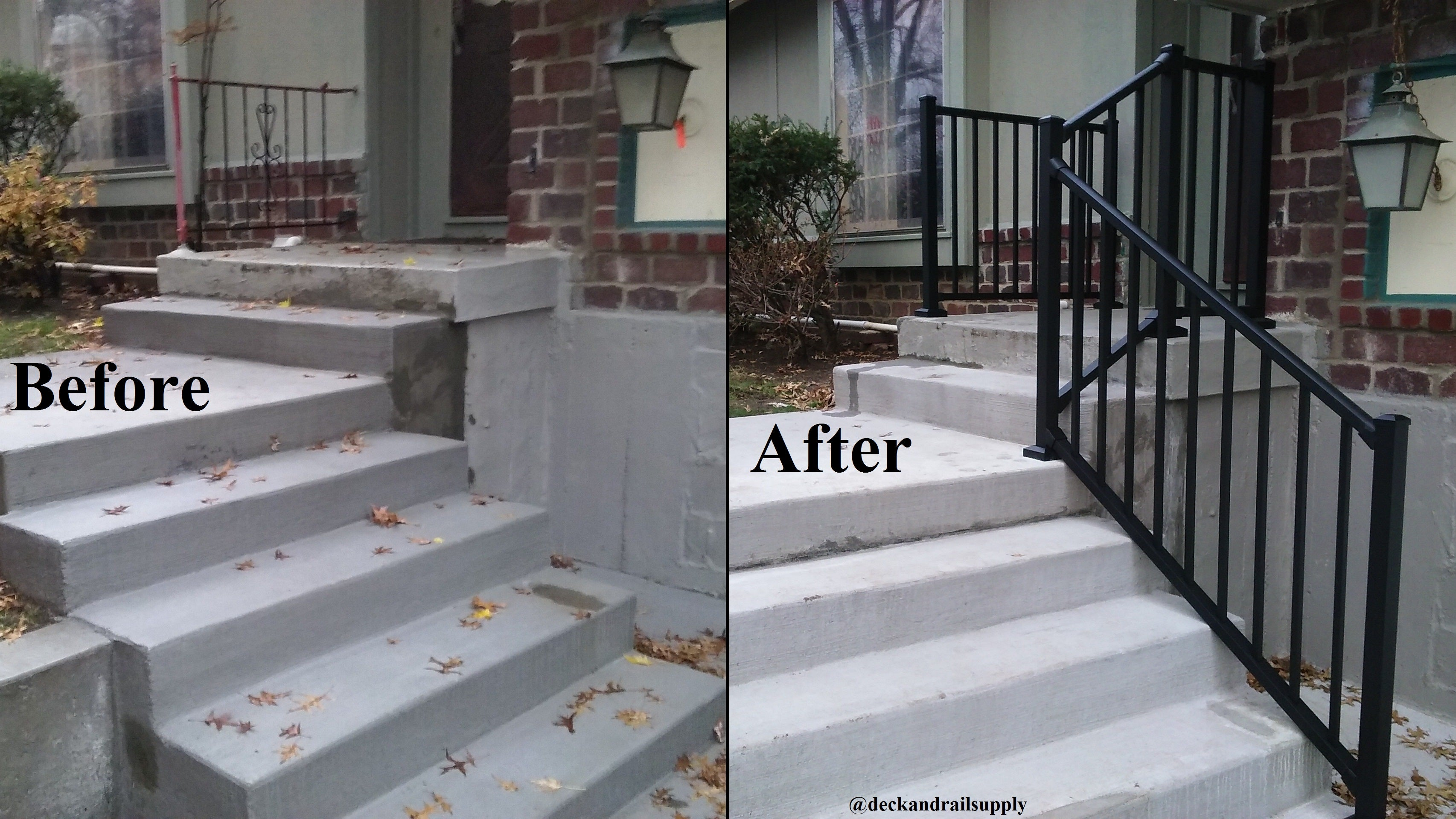 Front Porch Railing Replacement, Get rid of your old porch handrail and get a new aluminum railing installed
