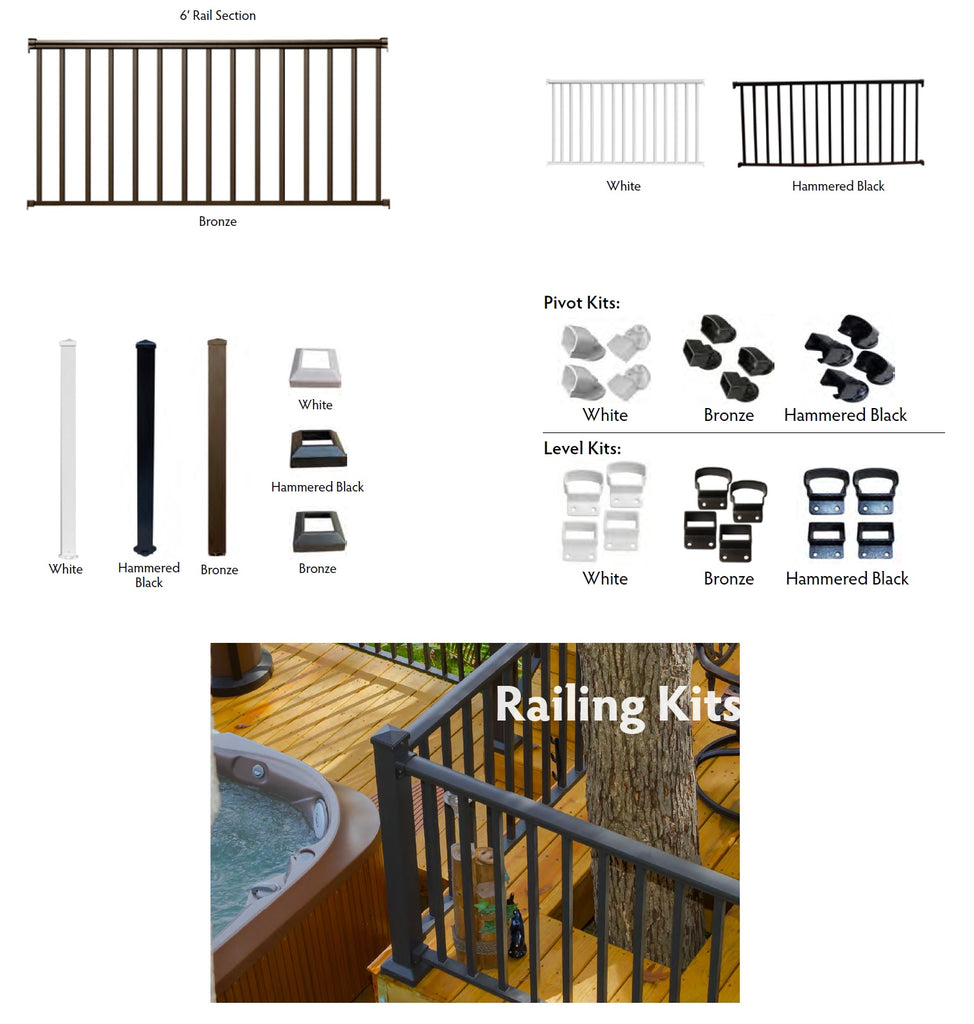 Madden Contractor Railing System, Aluminum Affordable Handrail