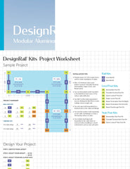 Feeney DesignRail planner, worksheet to sketch out how to order posts and rail kits