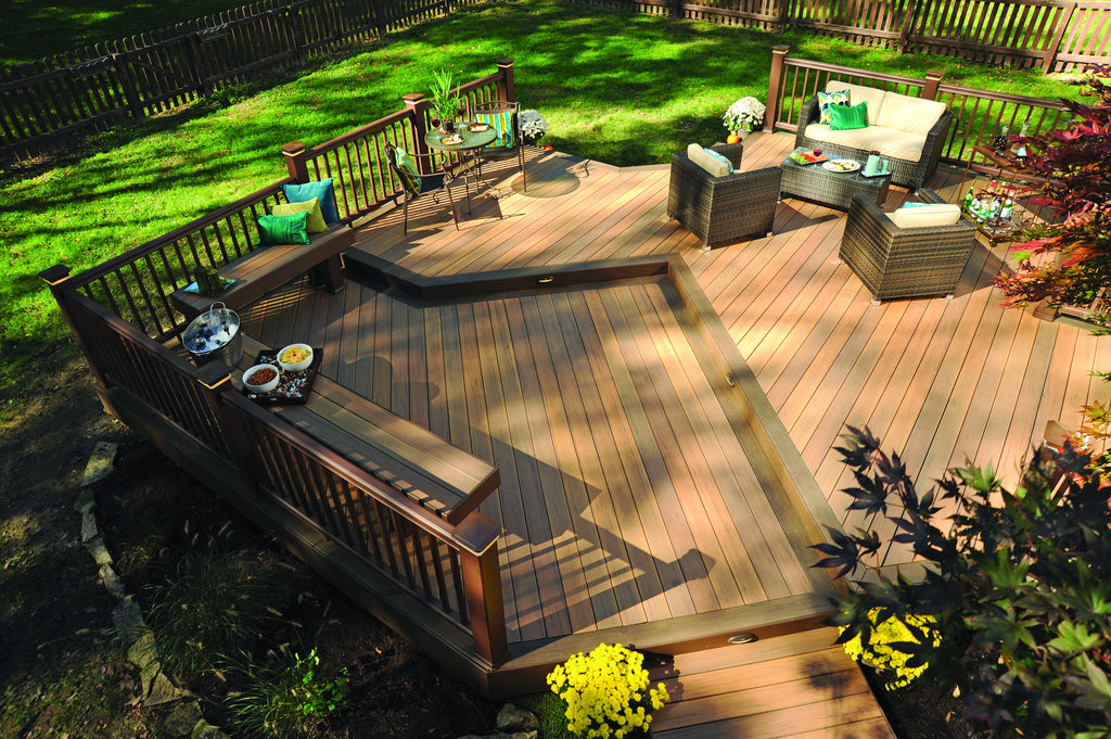 Timbertech legacy composite tigerwood synthetic non wood deck composite