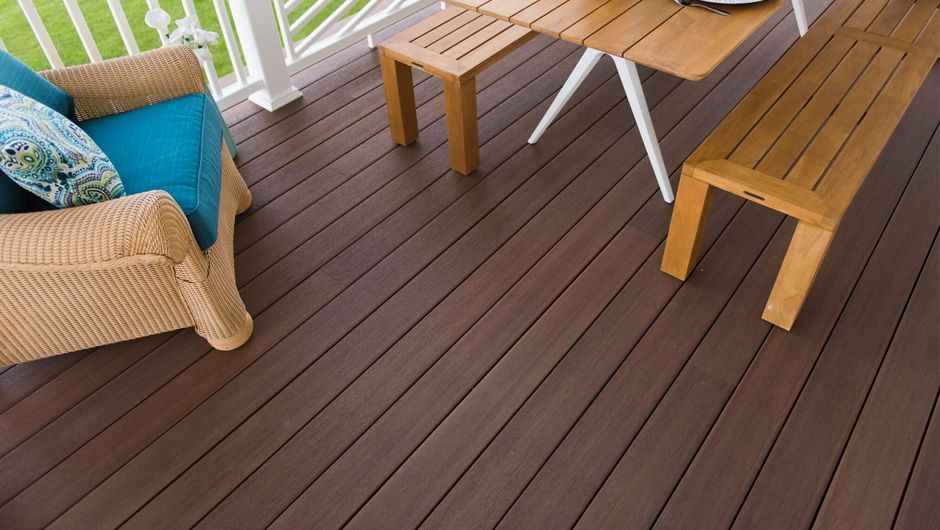 Fiberon Symmetry Burnt Umber Deck Pic, Capped Composite Decking