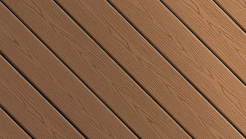 Fiberon Good Life Capped Composite Decking Color Streaking Cabin