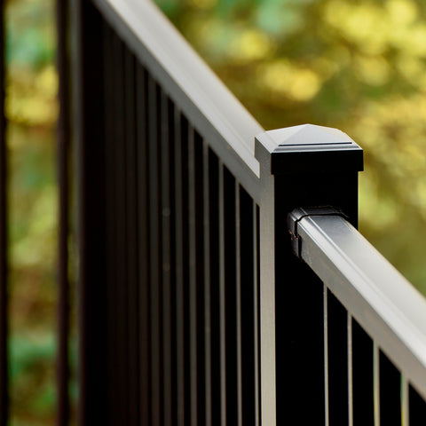 Azek Impression Railing Level Rail  Bronze Impressions rail, Black Impression Rail, Deck Railing by Azek