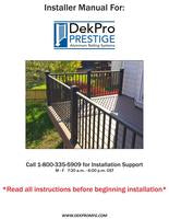DekPro Prestige Installation Guide Aluminum Railing System by DP