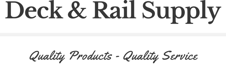 Deck & Rail Supply Logo Quality Products Quality Service