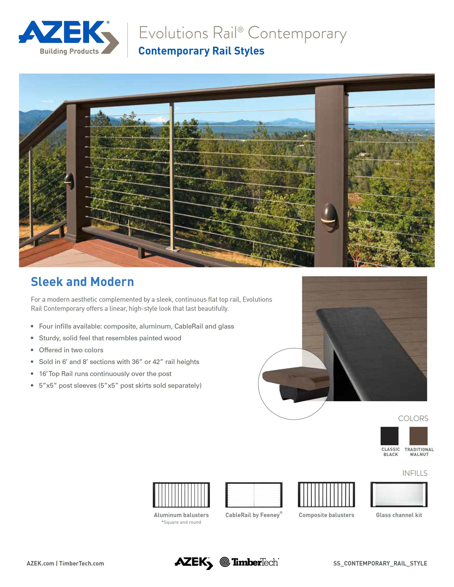 TimberTech Evolutions Contemporary Rail Composite Sleak Railing