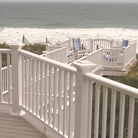 Azek Trademark Composite Deck Railing System, Composite Balusters, White