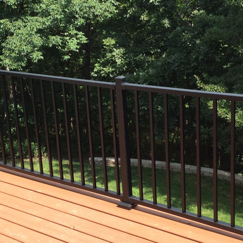 Westbury Tuscany C10 Aluminum Railing System, Rail Kits, Face Mount Posts, Fine Textured Black, Fine Textured Bronze, Gloss White, (5',6',7', and 8' Level,)(6' and 8' Stair)