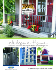Westbury Railing Brochure Guide To aluminum Railing products and system tuscany c10 riviera c30 verticable c80