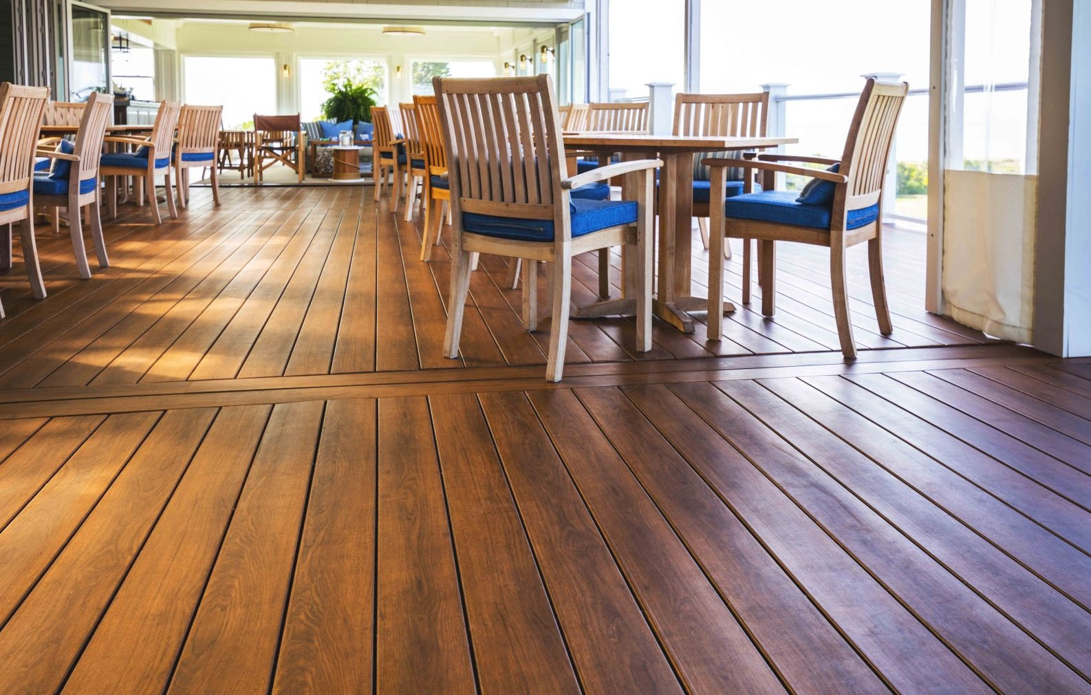 Zuri PVC non-wood Decking, Looks just like real wood without the drawbacks!