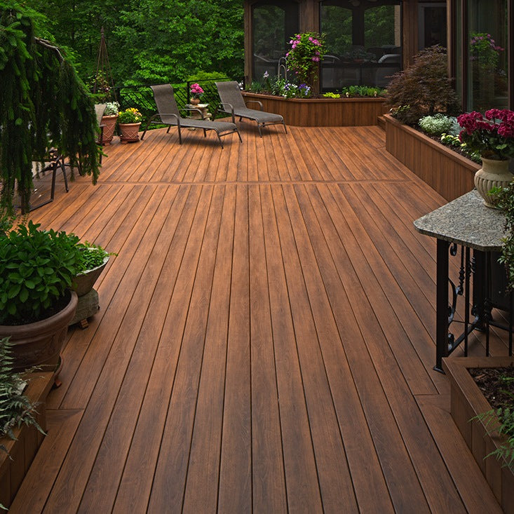 Zuri PVC Decking looks most like real wood decking without the hassel