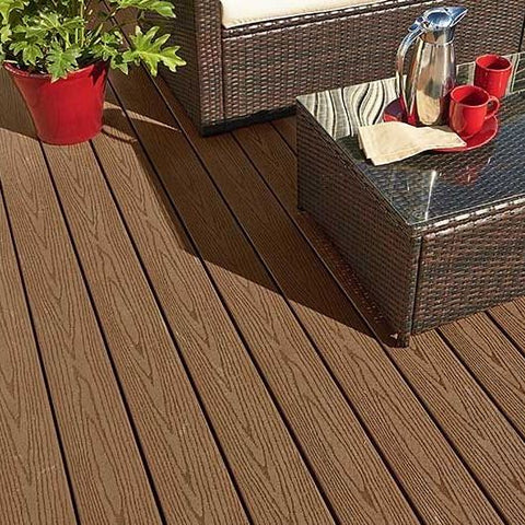 Fiberon Good Life Capped Composite Decking in Cabin or Cottage