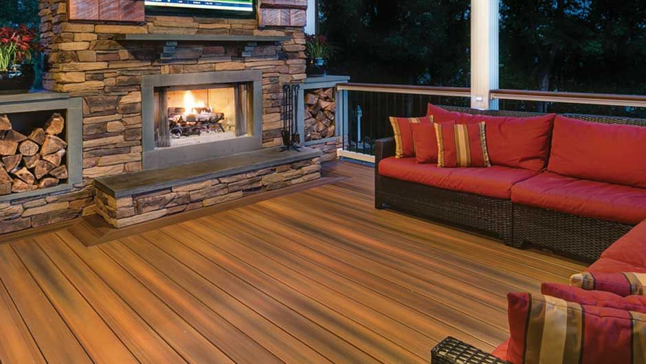 Fiberon Decking by a fire from fiberon website composite decking