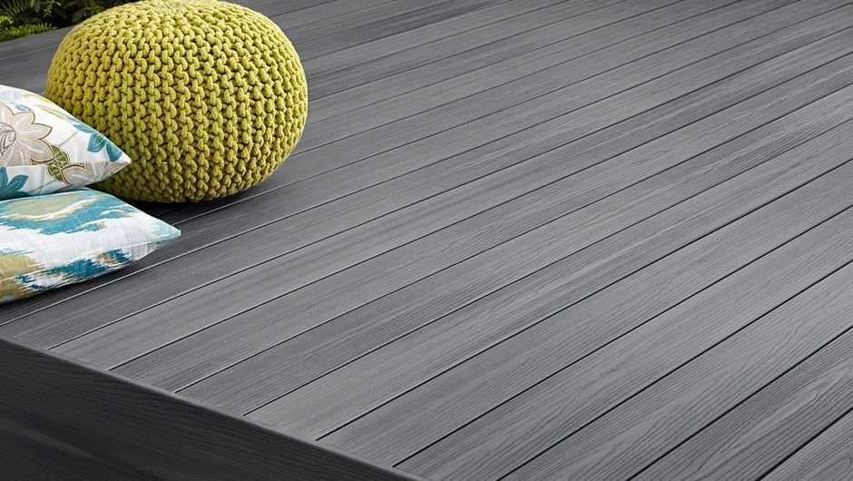 Fiberon Gray Decking in Good Life Beachouse a quality decking at a resonable price that will not stain and will not fade