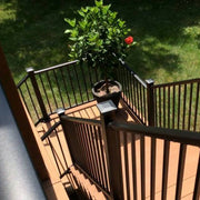 DekPro Railing Absolute Black Textured Black Rail Kit System Prestige Aluminum