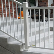 "DekPro Prestige Dream White 44"" Post, Face Mount Post Stair Rail"